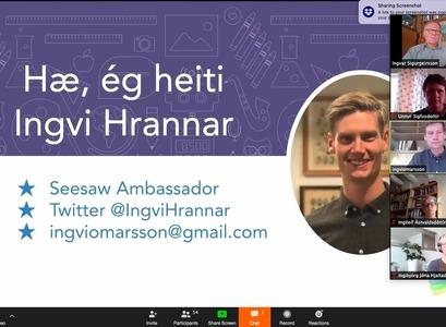 Ingvi Hrannar Ómarsson í menntabúðunum.