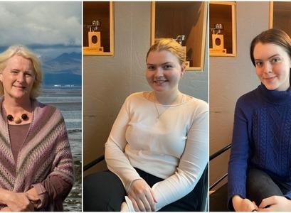 Soffía Auður Birgisdóttir, Hafdís Lára Sigurðardóttir og Arndís Ósk Magnúsdótti