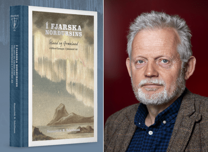 Sumarliði Ísleifsson og kápa bókarinnar