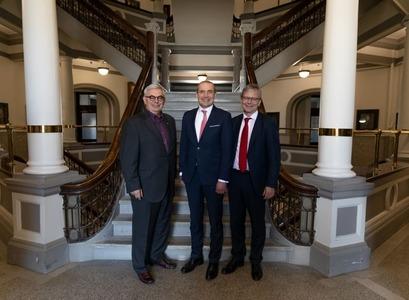 David T. Barnard, Guðni Th. Jóhannesson, og Jón Atli Benediktsson