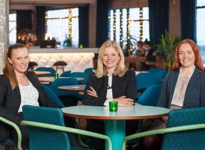 Stofnendur Crowberry Capital; Jenny Ruth Hrafnsdóttir, Helga Valfells og Hekla Arnardóttir