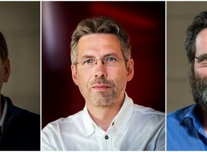 Björn Þorsteinsson, Jón Ólafsson og Benedikt Hjartarson.