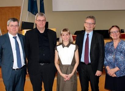 Frá vinstri: Ólafur P. Pálsson, Daníel Þ. Ólason, Steinunn Gestsdóttir, Jón A. Benediktsson og Inga Þórsdóttir.