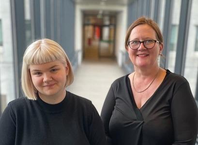 Sara Þöll Finnbogadóttir ritari og Eva H. Önnudóttir formaður NoPSA