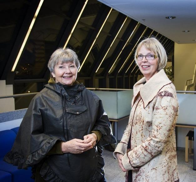 Guðrún Gísladóttir og Guðrún Pétursdóttir