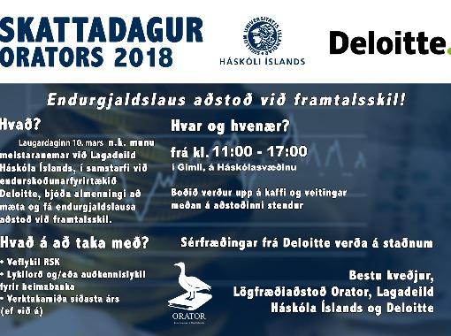 Aðstoð við skattaframtöl - Orator og Deloitte