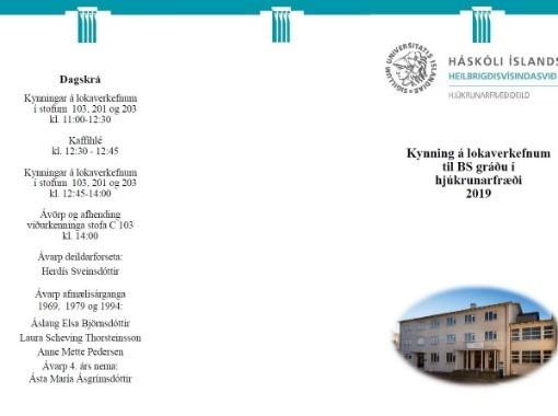 Lokaverkefnisdagur BS-nema við Hjúkrunarfræðideild