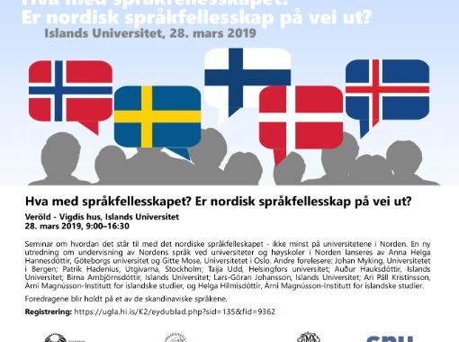 Hva med språkfellesskapet?  Er nordisk språkfellesskap på vei ut?