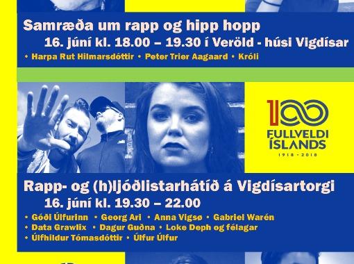 Rapp- og (h)ljóðlistarhátíð á Vigdísartorgi