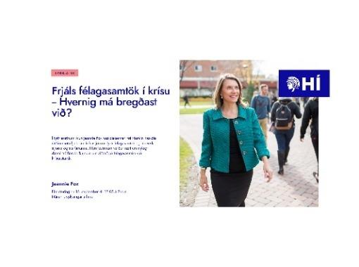 Frjáls félagasamtök í krísu  - Hvernig má bregðast við?
