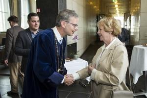 Jón Atli Benediktsson og Vigdís Finnbogadóttir fyrrverandi forseti Íslands