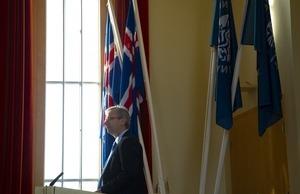 Jón Atli Benediktsson, rektor í pontu