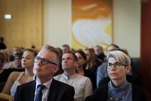 Magnús Karl Magnússon og gestir úr sal