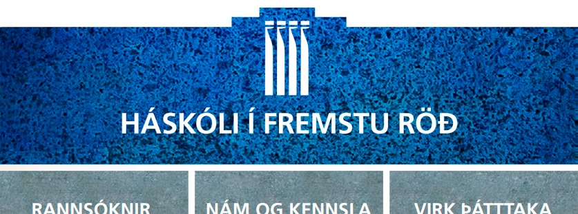 Skýringarmynd með stefnu Háskóla íslands 2016-2021