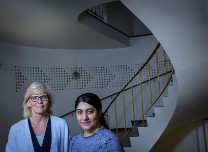 Hanna Ragnarsdóttir og Susan Rafik Hama